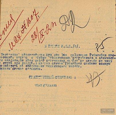 Письмо губернского комитета РКСМ в губернский комитет РКП(б) по вопросу о снабжении обувью. 28 сентября 1921 г.